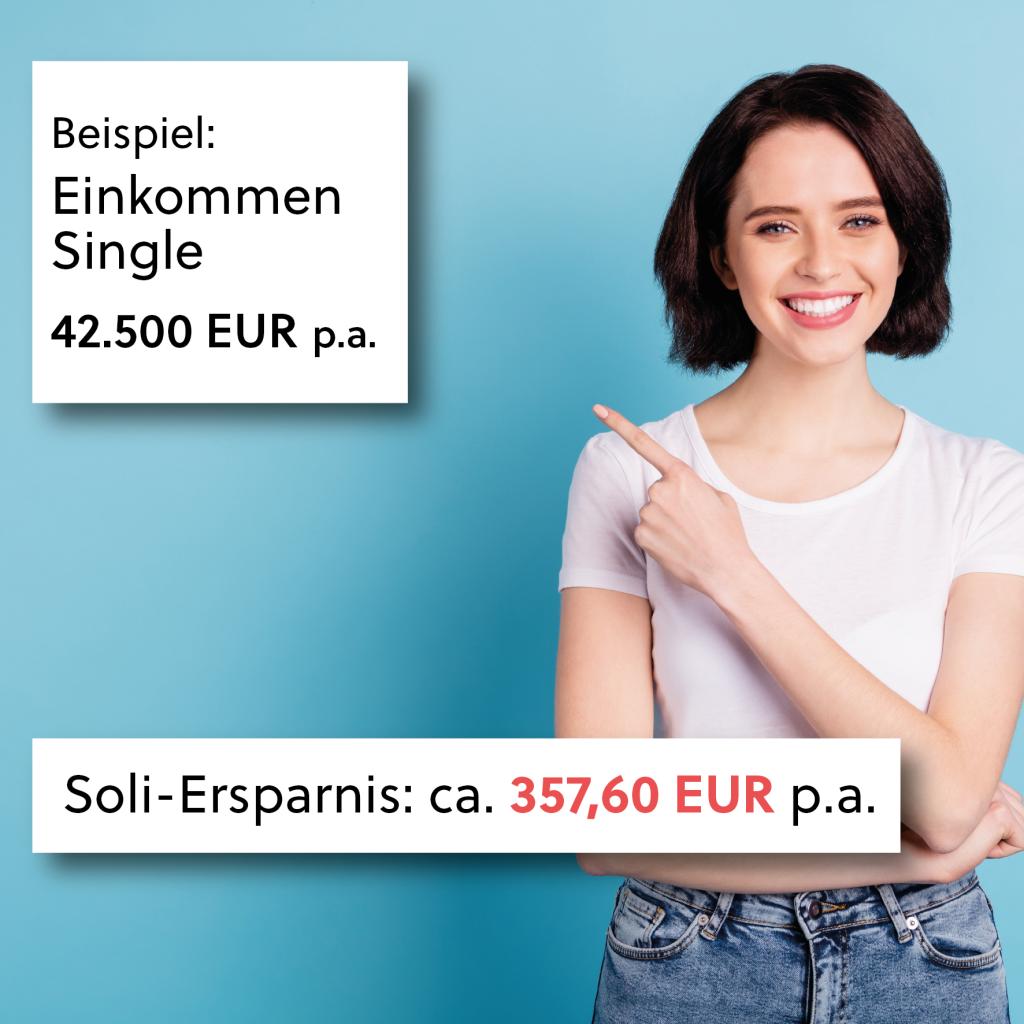 Beispiel: Soli-Ersparnis für Single